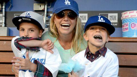 DIAPO Britney Spears et ses fils transformés en fans de baseball