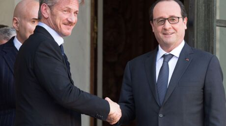 PHOTOS François Hollande rencontre Sean Penn à l'Elysée