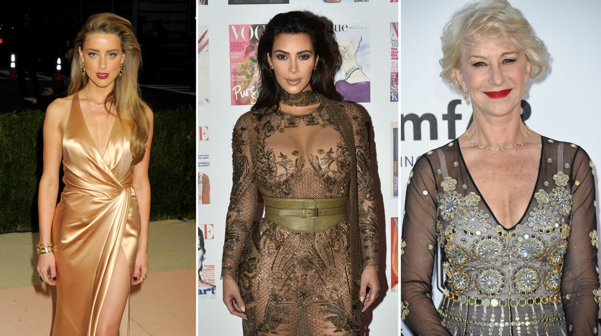 Amber Heard, Kim Kardashian, Helen Mirren… Qui a le visage le plus parfait?