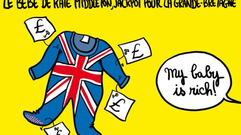 Louison a croqué: le bébé de Kate Middleton pourrait rapporter des millions d'euros au royaume