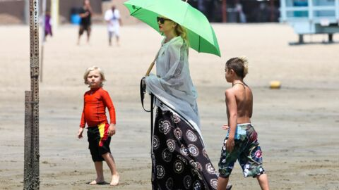 DIAPO Gwen Stefani: ses enfants s'éclatent à plage, elle moins