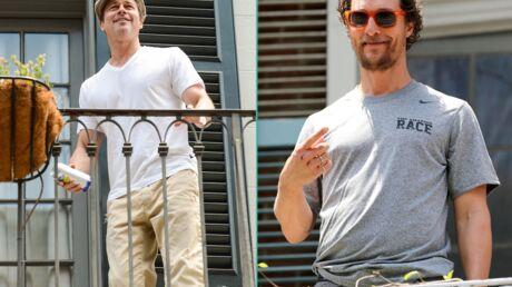 PHOTOS Brad Pitt lance une bière à Matthew McConaughey depuis son balcon