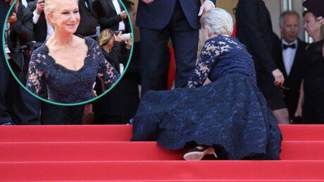 PHOTOS Cannes 2016: Helen Mirren tombe de tout son long sur les marches, mais avec élégance