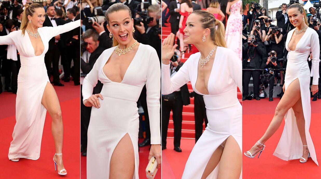 PHOTOS Festival de Cannes 2017: déchaînée sur le red carpet, Petra Nemcova dévoile sa culotte