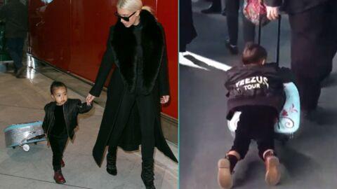 La vidéo trop craquante de North West, agrippée à sa valise à l'aéroport