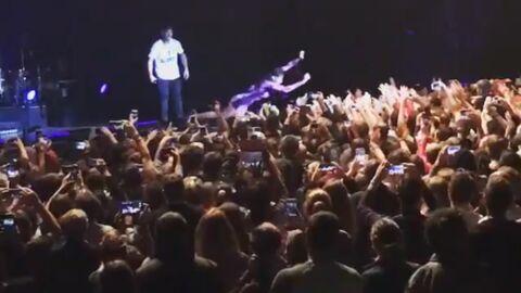 VIDEO Après son échec de la veille, Shy'm a de nouveau sauté dans le public