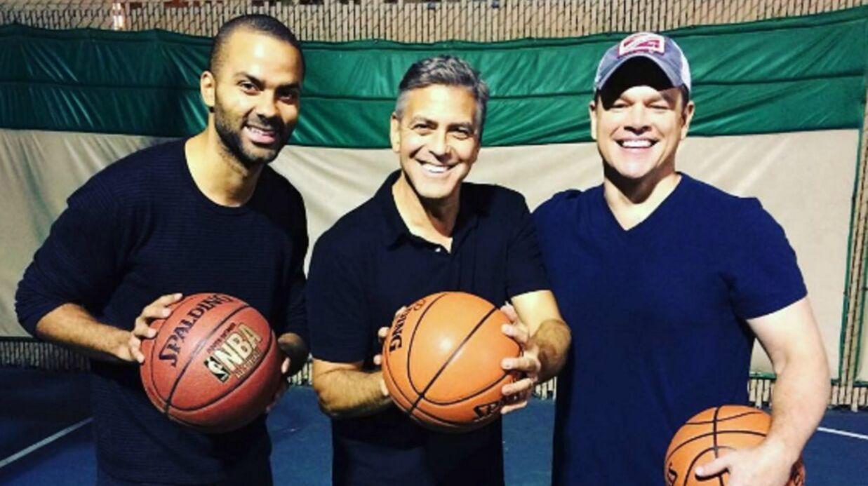 PHOTO Tony Parker retrouve George Clooney et Matt Damon sur un terrain de basket