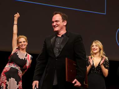 Mélanie Laurent radieuse pour la remise du prix Lumière à Quentin Tarantino