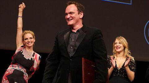 DIAPO Mélanie Laurent sexy pour la remise du prix à Quentin Tarantino
