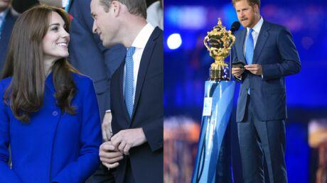 PHOTOS Le prince Harry roi du rugby, Kate et William toujours très complices dans les tribunes