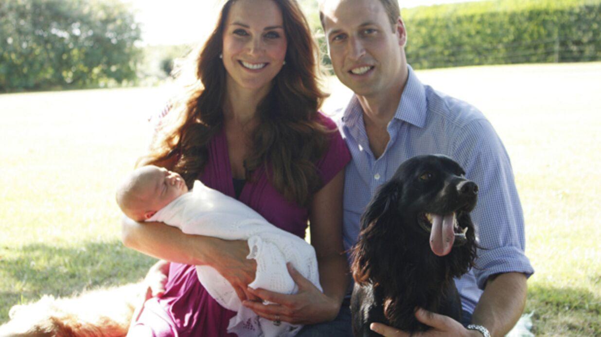 Kate et William: leurs premières photos officielles avec George (et des chiens)