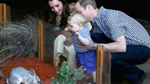 PHOTOS Le Prince William et Kate Middleton ont emmené leur petit George au zoo