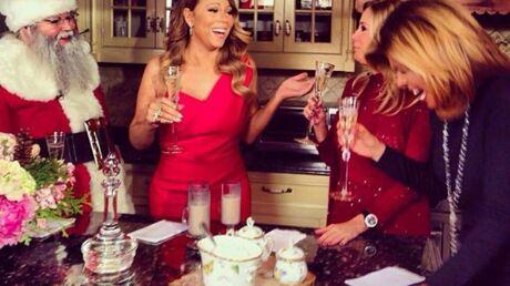 DIAPO Kim Kardashian, Miley Cyrus et Mariah Carey… Les stars gagnées par l'esprit de Noël