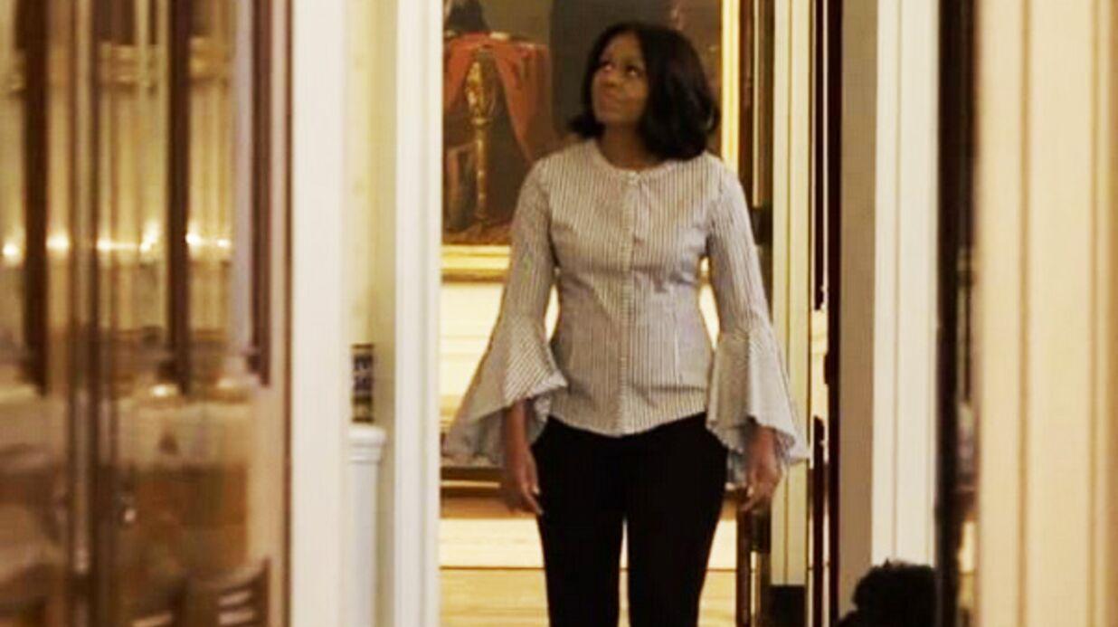 VIDEO Michelle Obama s'offre une dernière visite de la Maison Blanche