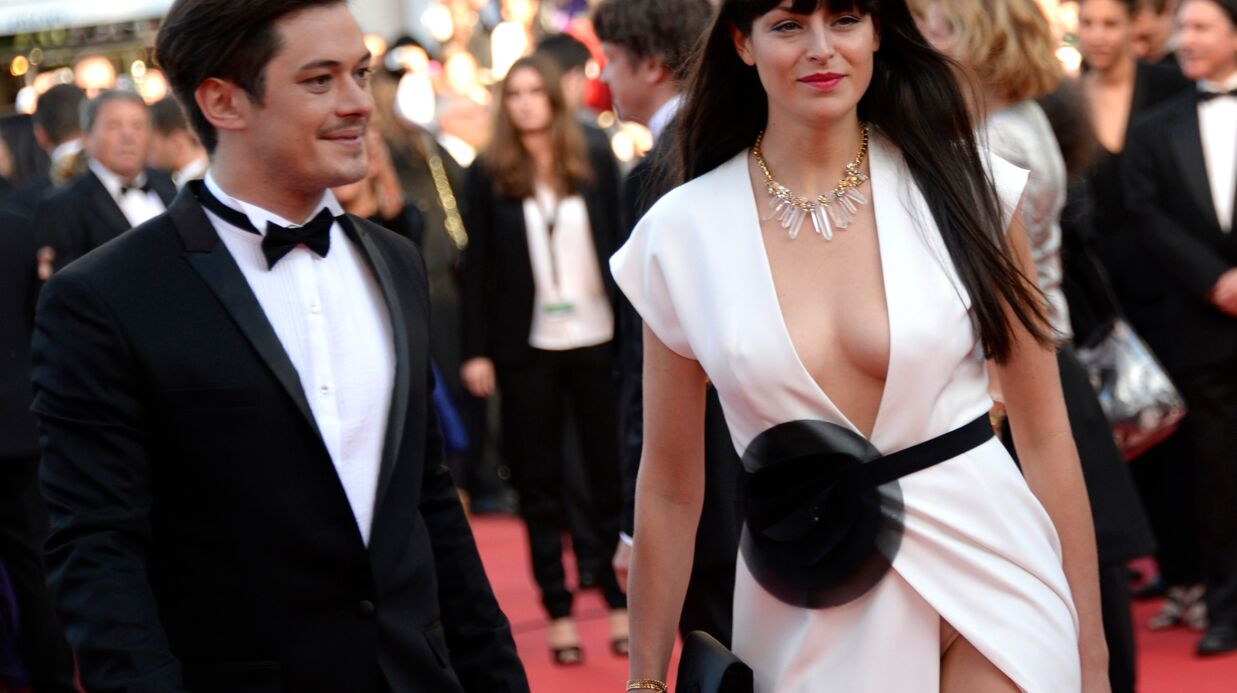DIAPO Cannes Ultra décolletée, la compagne d'Aurélien Wiik dévoile sa petite culotte sur le red carpet