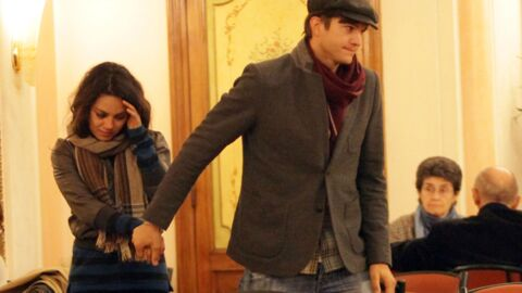 DIAPO Ashton Kutcher et Mila Kunis en amoureux à Rome
