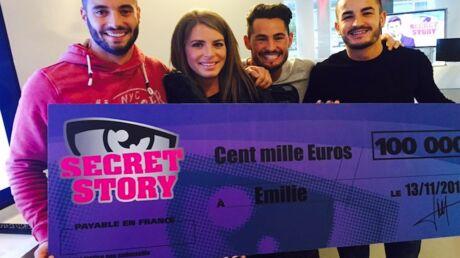VIDEOS Gagnante de Secret Story 9, Emilie reçoit son chèque de 100 000 euros