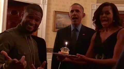 VIDEO Usher: Barack et Michelle Obama lui font une surprise d'anniversaire
