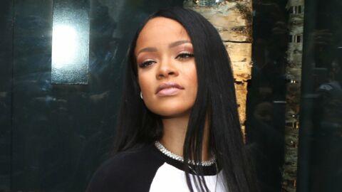 PHOTOS Rihanna pose seins nus en nuisette transparente avec un bébé dans les bras
