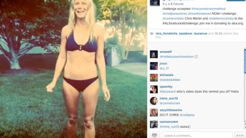 En bikini, Gwyneth Paltrow nomme son ex Chris Martin à l'Ice Bucket Challenge
