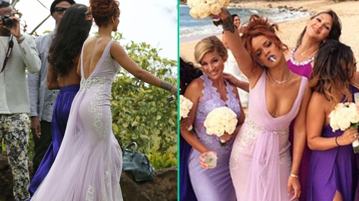 PHOTOS Rihanna demoiselle d\u0027honneur ultra classe (ou presque) pour le  mariage de son assistante