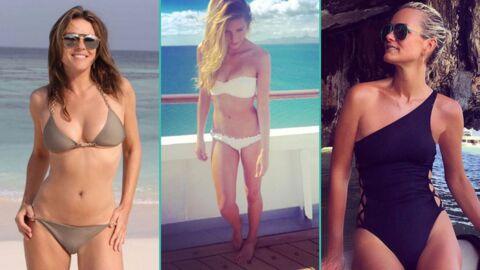 PHOTOS Elizabeth Hurley, Camille Cerf, Laeticia Hallyday… toutes ultra sexy en maillot de bain