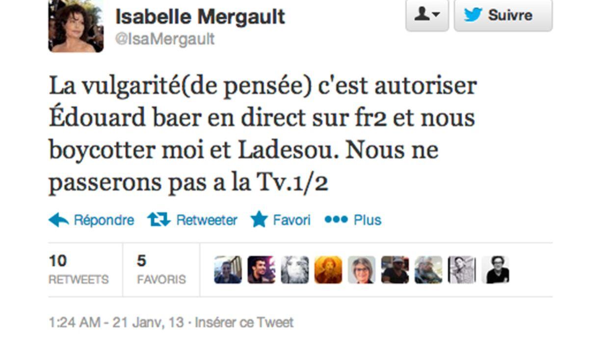 Isabelle Mergault clashe France 2 et Edouard Baer sur Twitter