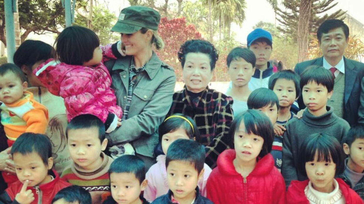 DIAPO Laeticia Hallyday visite des orphelinats au Vietnam