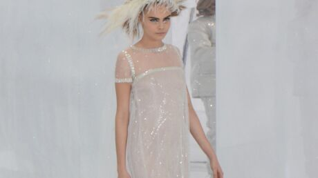 PHOTOS Cara Delevingne superbe mariée du défilé Chanel