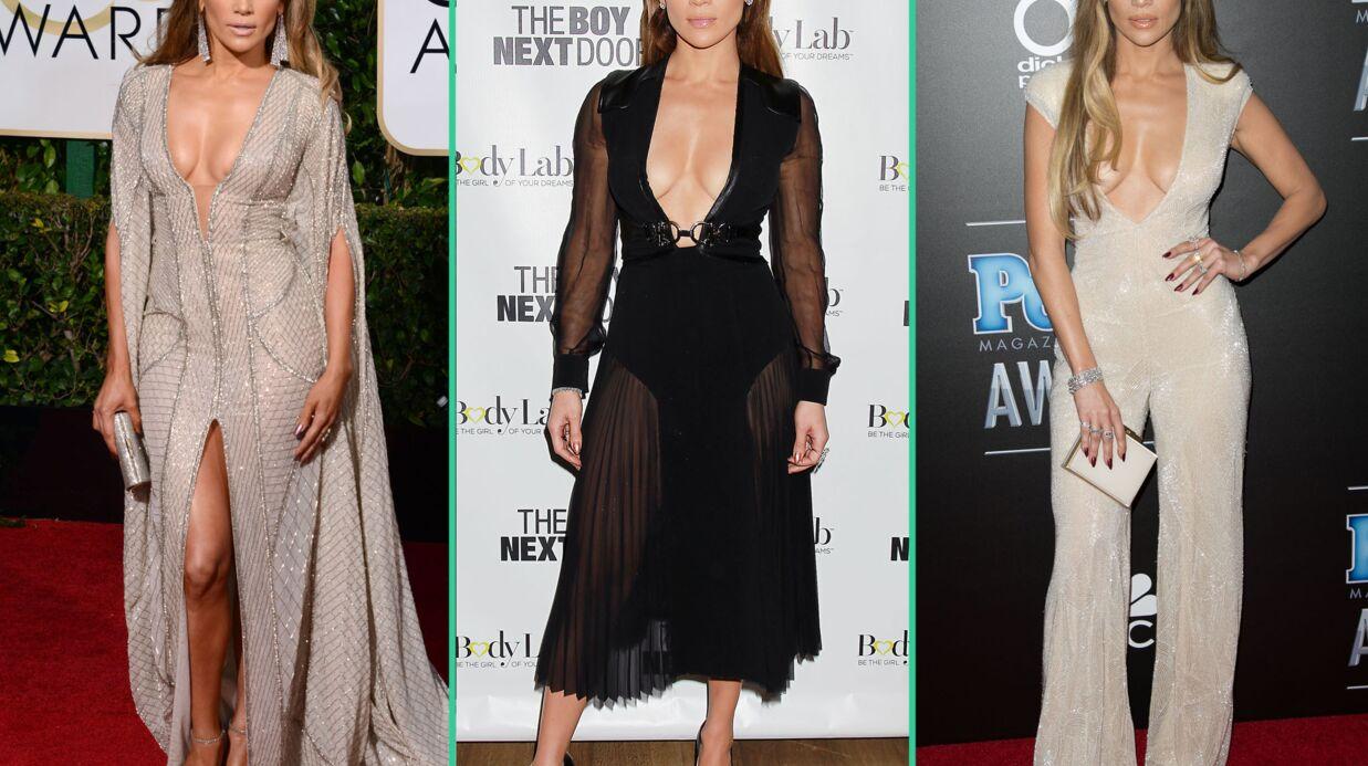 PHOTOS Jennifer Lopez a une nouvelle arme sexy: son décolleté incendiaire