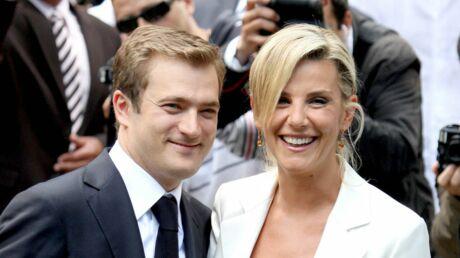 Laurence Ferrari sur scène aux côtés de son mari