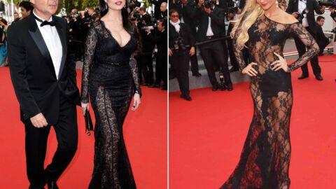 PHOTOS Cannes: la femme d'Eric Besson très décolletée, Tatiana Laurens tout en transparence