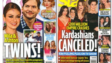En direct des US: Mila Kunis et Ashton Kutcher attendent des jumeaux!
