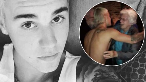 VIDEO Torse nu, Justin Bieber danse et drague une mamie