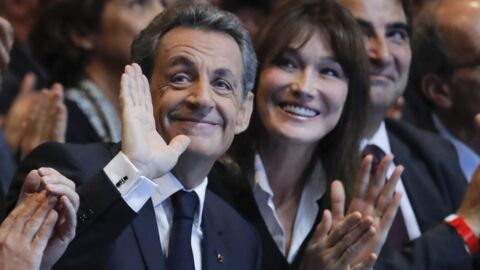 PHOTO Le touchant message de Carla Bruni à Nicolas Sarkozy après son échec à la primaire