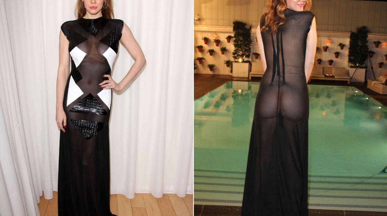 PHOTOS Une actrice complètement nue enflamme la fashion week