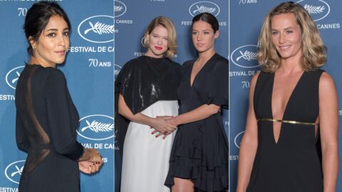 PHOTOS Léa Seydoux enceinte, Cécile de France décolletée pour les 70 ans du Festival de Cannes