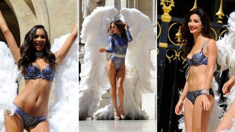PHOTOS En tournage, les Anges de Victoria's Secret enflamment Paris en lingerie sexy
