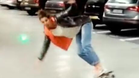 VIDEO Laury Thilleman fait une belle chute en skate-board