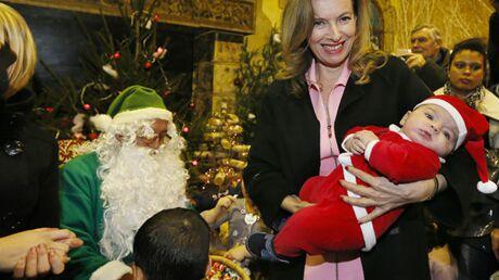 DIAPO Valérie Trierweiler a participé au Noël du Secours Populaire