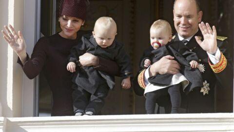 PHOTO L'adorable carte de vœux d'Albert et Charlène de Monaco avec leurs jumeaux