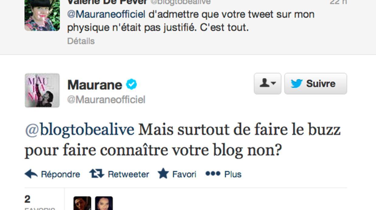 Maurane s'excuse auprès de la blogueuse qu'elle a attaquée