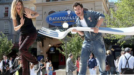DIAPO Michaël Youn, Sonia Rolland et Djibril Cissé au lancement de l'attraction Ratatouille à Disneyland !