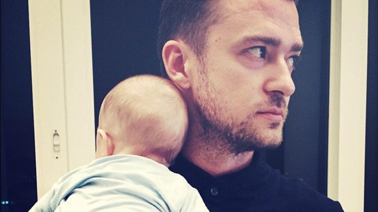 PHOTO Justin Timberlake pose avec son fils pour sa première fête des pères