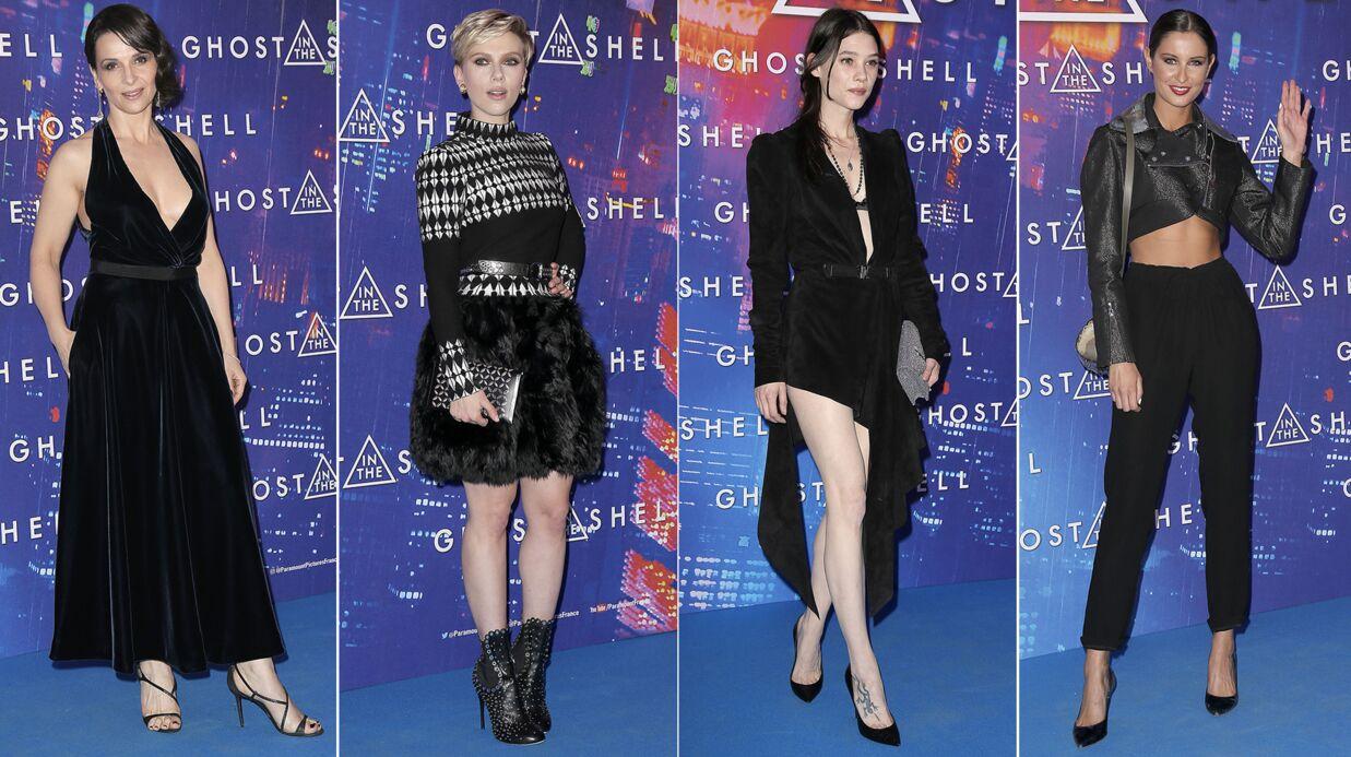 PHOTOS Juliette Binoche très décolletée, Scarlett Johansson élégante pour Ghost in the Shell à Paris