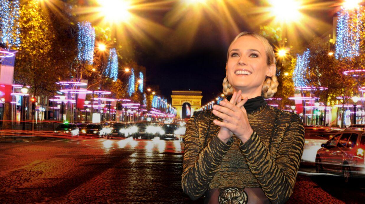DIAPO Diane Kruger illumine les Champs-Elysées