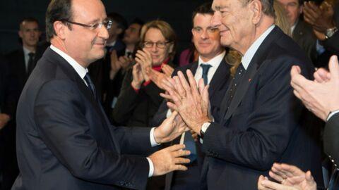PHOTOS Jacques Chirac affaibli mais heureux de retrouver François Hollande