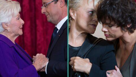 PHOTOS Line Renaud reçoit la Légion d'honneur devant Muriel Robin et sa compagne