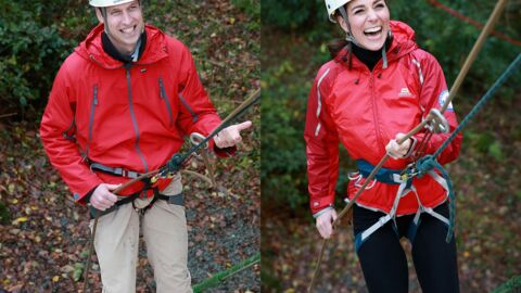 PHOTOS Kate Middleton et le prince William s'amusent en faisant de l'escalade