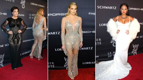 PHOTOS Khloé Kardashian tout en transparence, Christina Milian glamour au Angel Ball